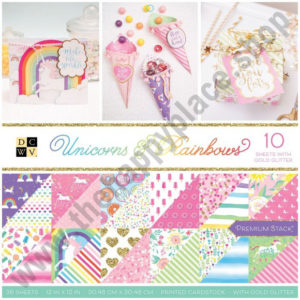 American Crafts DCWV 30,5x30,5cm x36 unicorns & rainbows