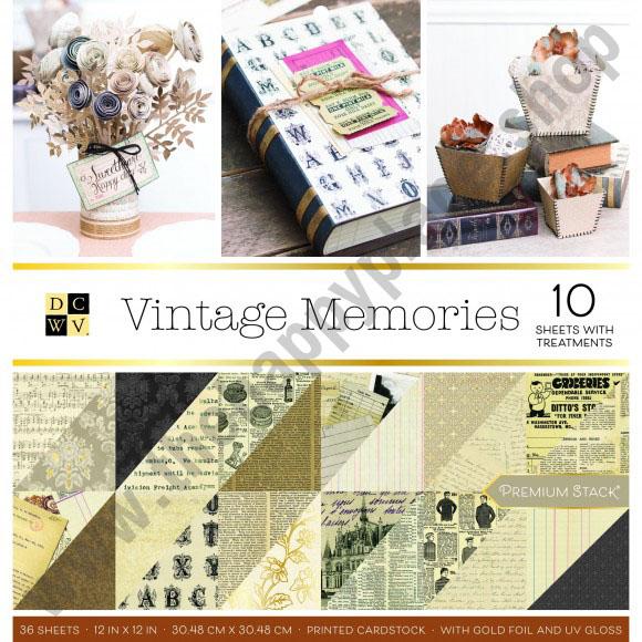 American Crafts DCWV 30,5x30,5cm x36 vintage memories