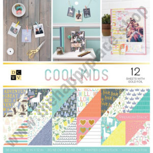 American crafts • DCWV 30,5x30,5cm x36 cool kids