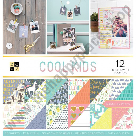 American crafts • DCWV 30,5x30,5cm x36 cool kids