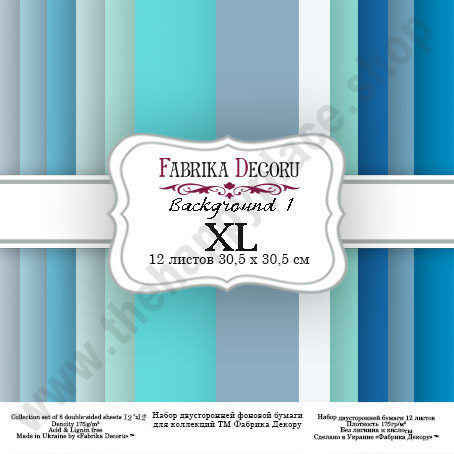 Double-sided scrapbooking paper set Backgrounds 1 XL