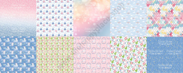 Double-sided scrapbooking paper set Believe in miracle 1