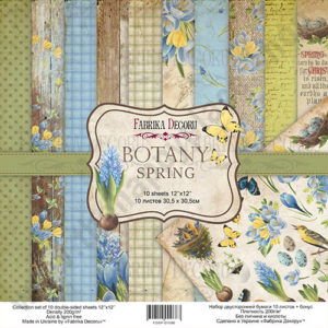 Double-sided scrapbooking paper set Botany spring