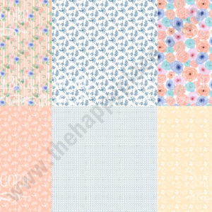 Double-sided scrapbooking paper set Flower mood 1