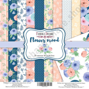 Double-sided scrapbooking paper set Flower mood