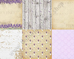 Double-sided scrapbooking paper set Lavender Provence 1
