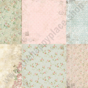 Double-sided scrapbooking paper set Letters of love 1