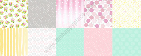 Double-sided scrapbooking paper set Little elephant1