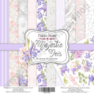 Double-sided scrapbooking paper set Majestic Iris
