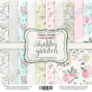 Double-sided scrapbooking paper set Shabby garden
