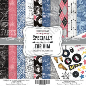 Double-sided scrapbooking paper set Specially for him