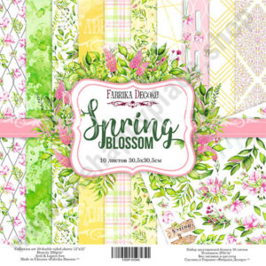 Double-sided scrapbooking paper set Spring blossom