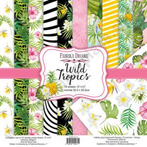 Double-sided scrapbooking paper set Wild Tropics