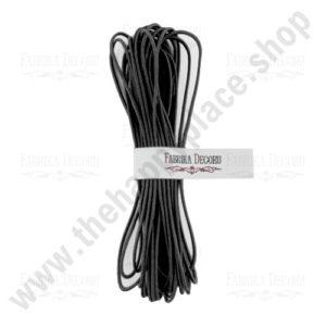 Elastic round cord. Color Black