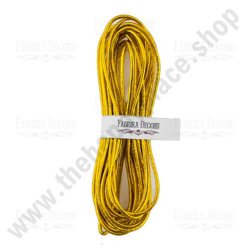 Elastic round cord. Color Gold