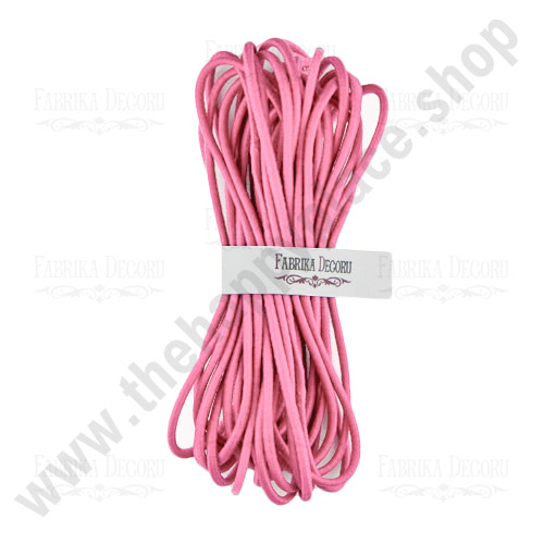 Elastic round cord. Color Pink