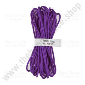 Elastic round cord. Color Violet