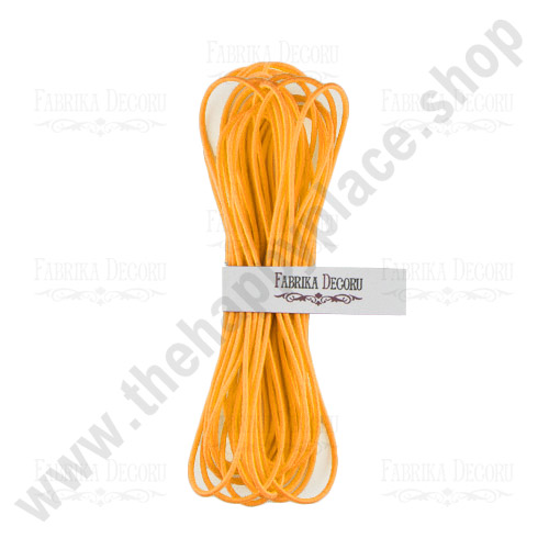 Elastic round cord. Color Yellow