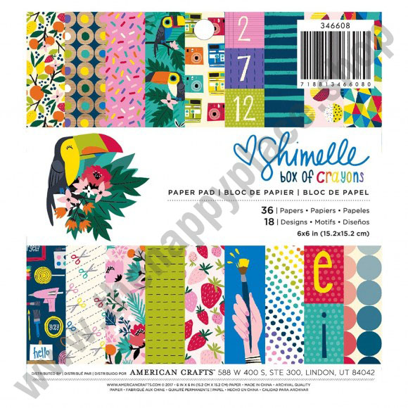 Shimelle paper pad box of crayons 6x6